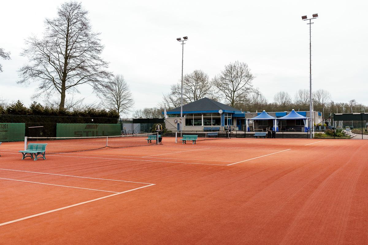 Tennisbanen van d'Oudelande