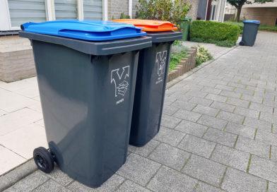 Geen inzameling afval op feestdagen