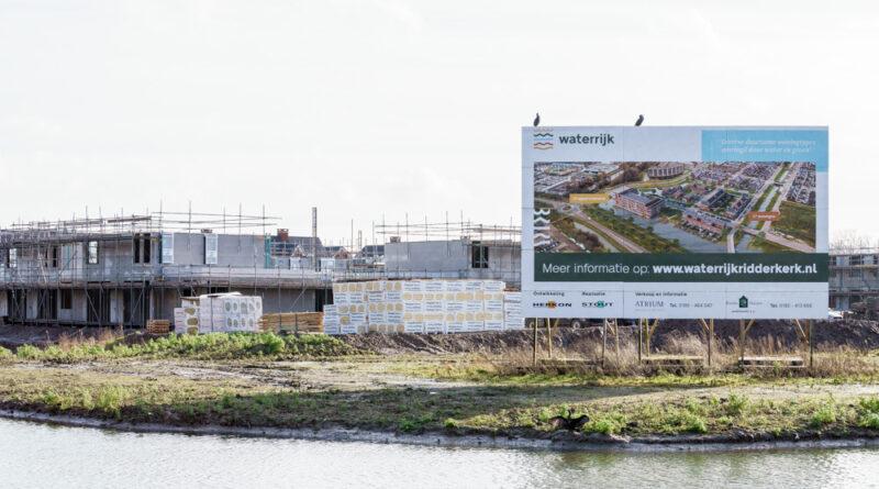 Nieuwbouw project Waterrijk in Ridderkerk 't Zand vordert gestaag