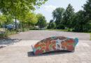 Nieuwe zitbank bij skatebaan Sportlaan Ridderkerk